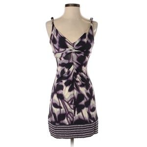 BCBGMAXAZRIA Purple Abstract Print Casual Dress